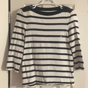 Kate Spade, size small sequin stripe top.